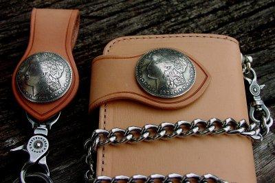 画像2: ファニー ライダースウォレット(タン)/Funny Rider's Wallet 1$Morgan(Tan)