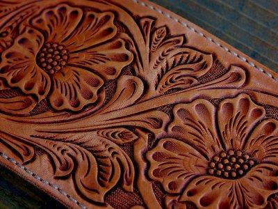 画像2: ファニー コインヘッド ビルフォード ハンドクラフト・Hand Craft(Tan Antique)/Funny Coin Head Billfold
