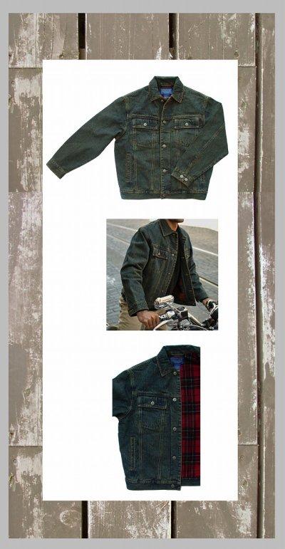 画像1: ペンドルトン タータンチェック ラインド デニム ジャケット(Brodie Tartan)/Pendleton Tartan Lined Denim Jacket