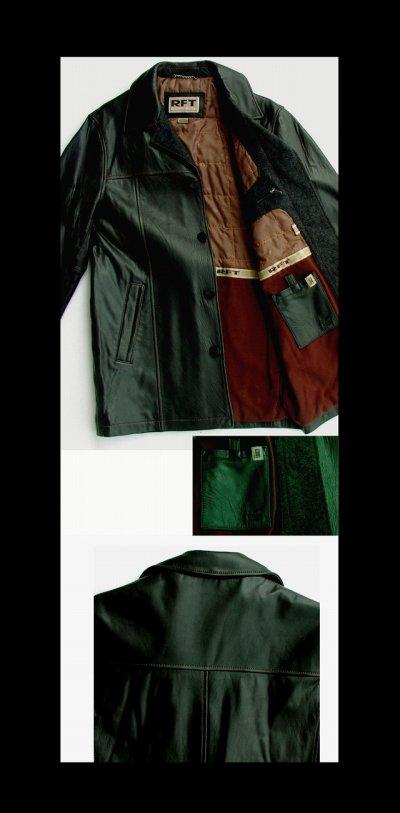 画像3: レインフォレスト レザー カーコート(ブラック)/RFT RAINFOREST Smooth Lamb Leather Car Coat (Black)