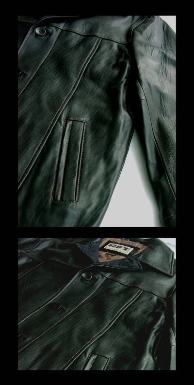 画像2: レインフォレスト レザー カーコート(ブラック)/RFT RAINFOREST Smooth Lamb Leather Car Coat (Black)