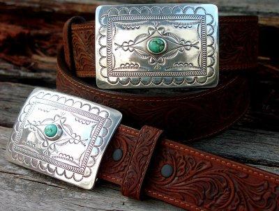 画像2: トニーラマ スクエアバックル ベルト(ブラウン)/Tony Lama Navajo Spirit Belt(Brown)