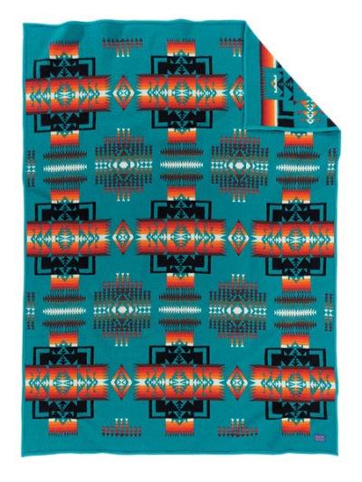 画像1: ペンドルトン チーフジョセフ ムチャチョ ブランケット(ターコイズ)/Pendleton Chief Joseph Muchacho Blanket(Turquoise)