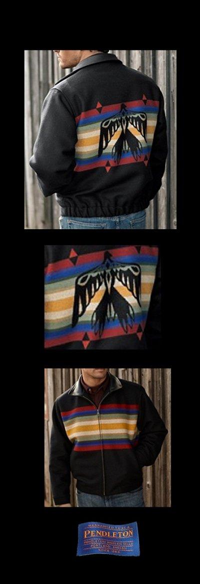 画像1: ペンドルトン ウール ウエスタン ジャケット サンダーバード(ブラック)/Pendleton Wool Western Jacket Thunderbird(Black)
