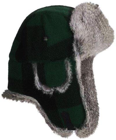 画像1: マッド ボンバー ハット 帽子(ラビット ファー グリーン・ブラック)/Mad Bomber Hat(Green Black)