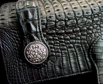 画像3: ファニー ライダースウォレット(ホーンバックナイルクロコダイル・ブラック/VICTOR37MM・SE-1)/Funny Rider's Wallet(Horn Back Nile Crocodile・Black)