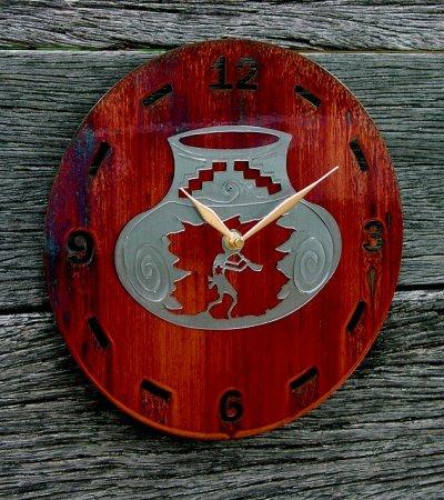 画像2: ココペリ メタルウォールクロック(壁掛け時計)/Kokopelli Metal  Art Wall Clock