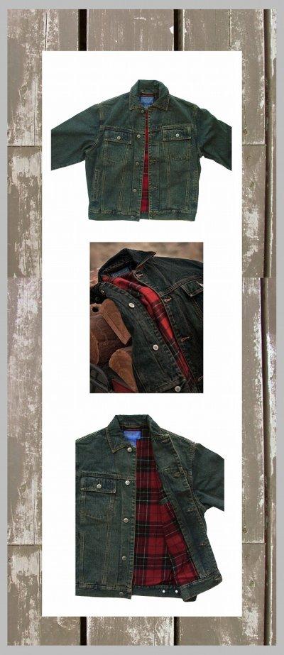 画像2: ペンドルトン タータンチェック ラインド デニム ジャケット(Brodie Tartan)/Pendleton Tartan Lined Denim Jacket