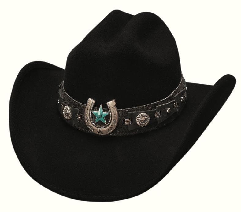 画像1: ブルハイド ウール ウエスタンハット アゲインストオールオッズ(ブラック)/Bullhide Western Hat(Against All Odds/Black) (1)