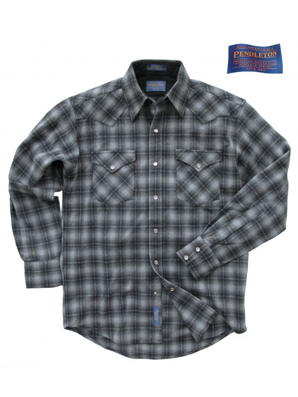 画像1: ペンドルトン  ウエスタンシャツ/Pendleton High Grade Western Shirt(Charcoal Ombre) (1)