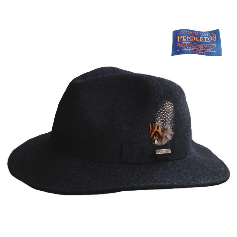 画像1: ペンドルトン ウールハット(チャコール)/Pendleton Genuine Crushable Wool Felt Hat Charcoal