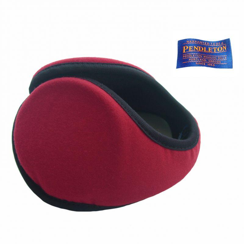 画像1: ペンドルトン イヤーウォーマー・100%ヴァージン ウール イアースナグ(レッド)/Pendlton Ear Snugs(Red) (1)