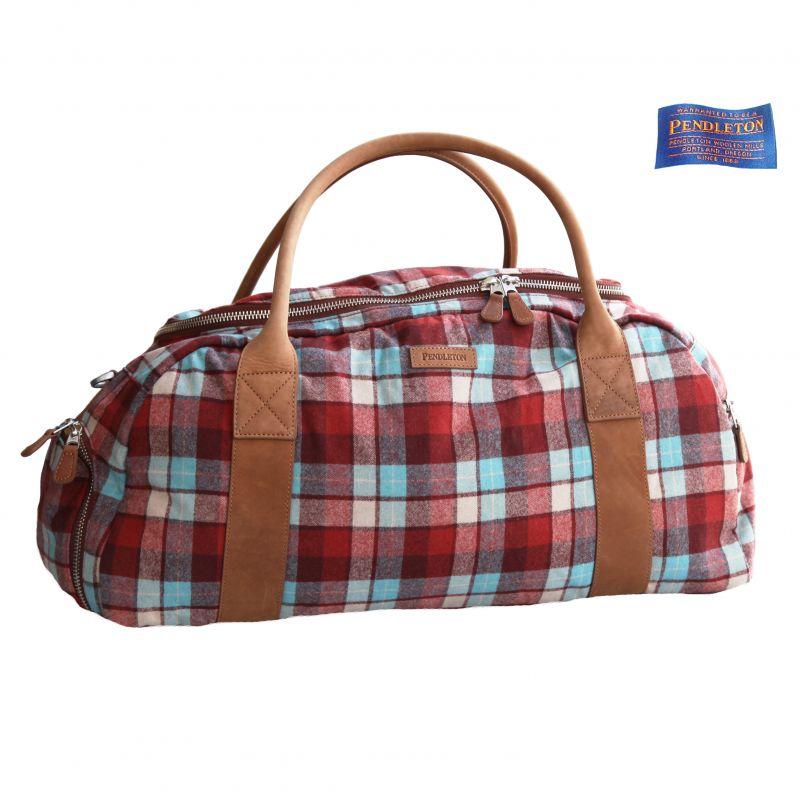画像1: ペンドルトン トラベラー ダッフルバッグ<旅行かばん トラベルバッグ>(ラスト ビーチボーイズ プラッド)/Pendleton The Traveler Duffle Bag (1)