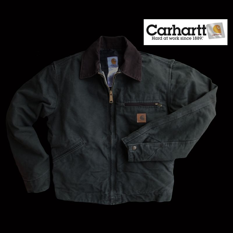 画像1: カーハートデトロイトジャケット(モスグリーン)/Carhartt Detroit Jacket (1)
