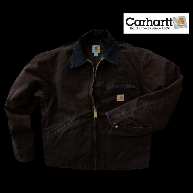 画像1: カーハートデトロイトジャケット(ダークブラウン)/Carhartt Detroit Jacket