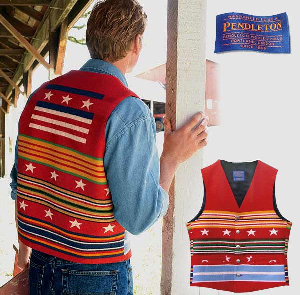 画像1: ペンドルトン ウエスタン ウールベスト(グレートフルネイション)/Pendleton Western Wool Vest(Grateful Nation)