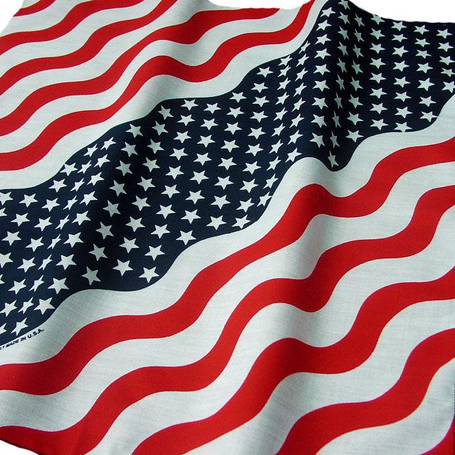 画像1: バンダナ(アメリカ国旗・ウェーブ)/Bandana US Flag Wave (1)
