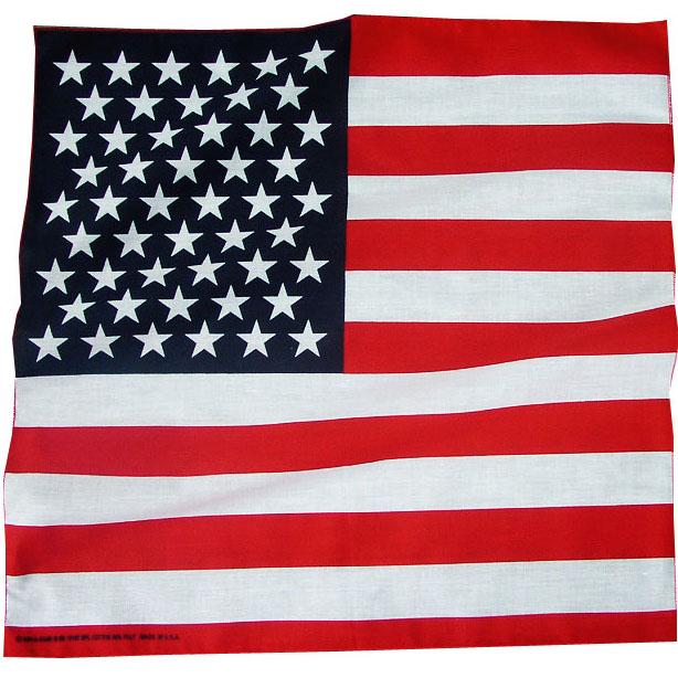 画像1: バンダナ(アメリカ国旗)/Bandana US Flag (1)