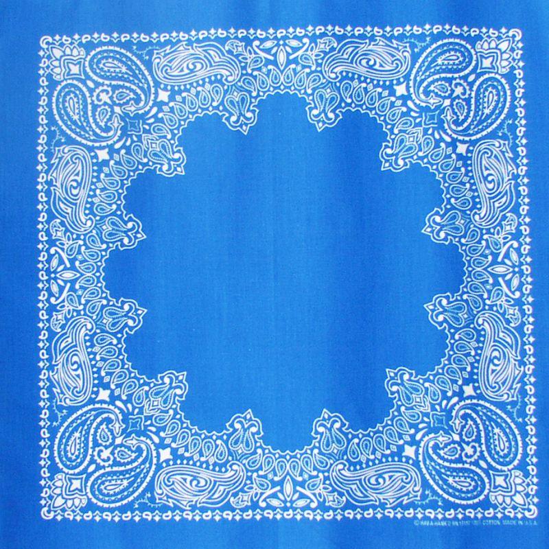 画像1: バンダナ ハバハンク HAV-A-HANK ペイズリー(ブルー・ホワイト)/Bandana Paisley  Blue White