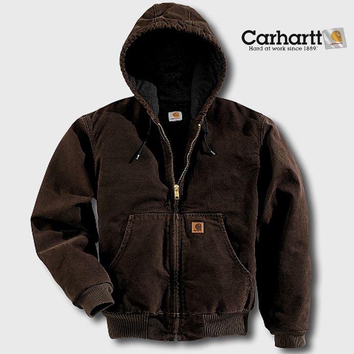 画像1: カーハート サンドストーン アクティブ ジャケット ダークブラウン/Carhartt Sandstone Active Jacket