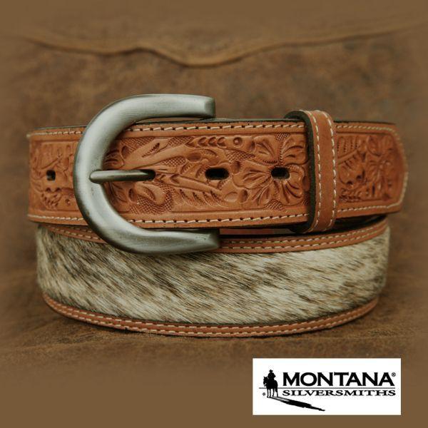 画像1: モンタナシルバースミス カウヘアー・ハンドツール ベルト/Montana Silversmiths (1)
