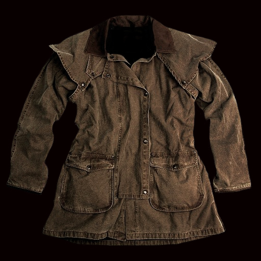 画像1: レザーカラー ウォッシュドキャンバスジャケット/Leather Collar Washed Canvas Jacket
