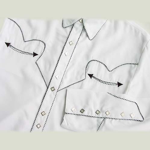 画像1: スカリー ウエスタン シャツ(長袖/ホワイト)/Scully Long Sleeve Western Shirt (1)