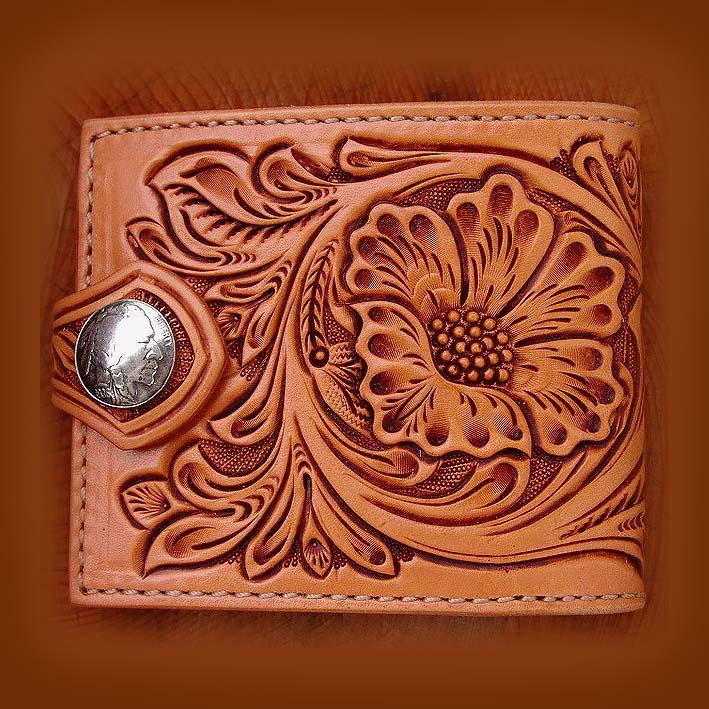 画像1: ファニー コインヘッド ビルフォード ハンドクラフト・Hand Craft(Tan Antique)/Funny Coin Head Billfold (1)