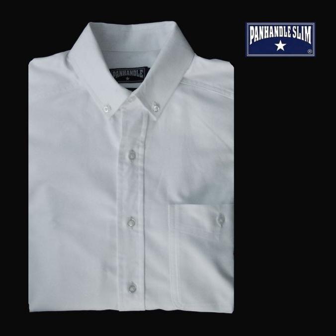 画像1: パンハンドルスリム オックスフォード シャツ(ホワイト・無地/長袖)/Panhandle Slim Oxford Cloth Shirt