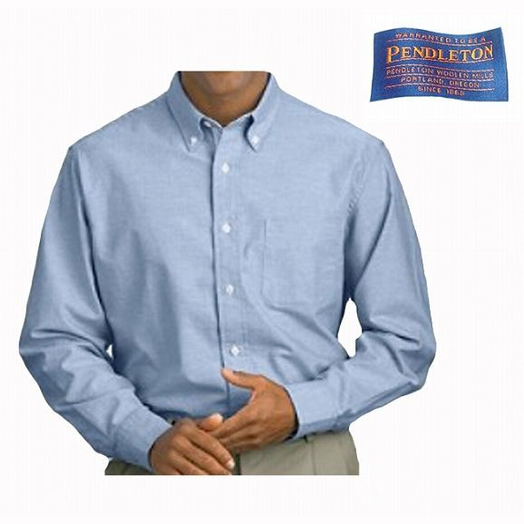 画像1: ペンドルトン オックスフォード シャツ(フレンチブルー)/Pendleton Oxford Cloth Shirt (1)