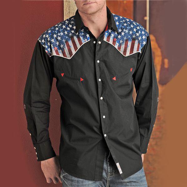 画像1: パンハンドルスリム ウエスタンシャツ(ブラック/長袖)ラージサイズ/Panhandle Slim Long Sleeve Western Shirt (1)