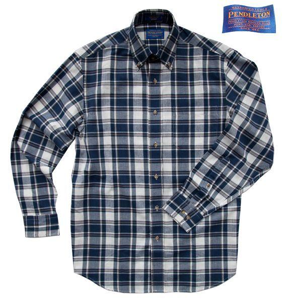 画像1: ペンドルトン オーシャンサイド シャツ ネイビー・タンL/XL/Pendleton Long Sleeve Shirt (1)