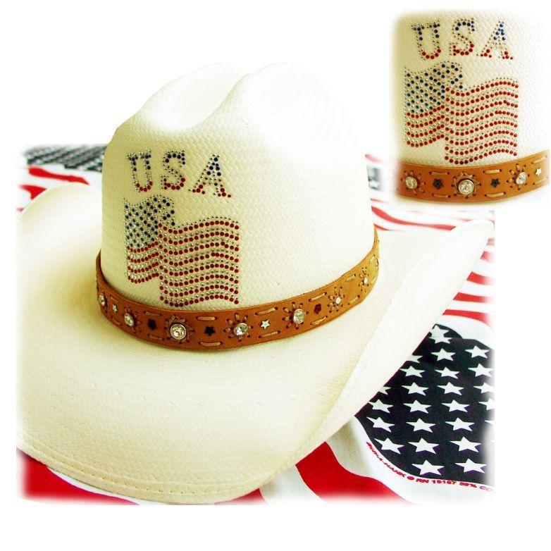 画像1: オンリーインアメリカ レザーバンド ストローハット(ナチュラル)/Western Straw Hat(Only In America) (1)