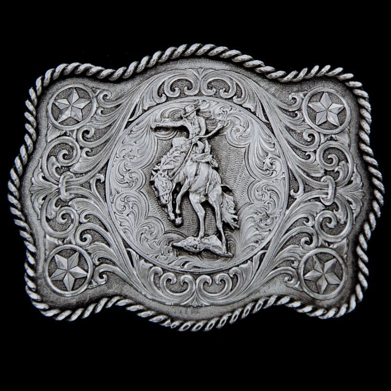 画像1: モンタナシルバースミス ベルト バックル サドル ブロンコ/Montana Silversmiths Belt Buckle Saddle Bronc (1)