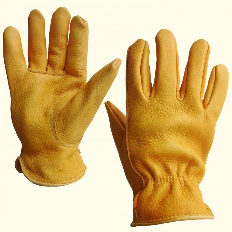 画像1: エルクスキン レザー グローブ(エルク鹿皮・タン)/Elkskin Leather Gloves