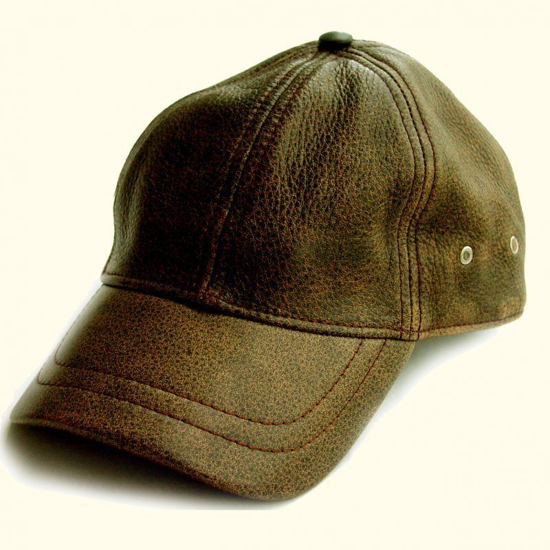画像1: レザーキャップ(ビンテージブラウン)/Leather Baseball Cap(Brown) (1)