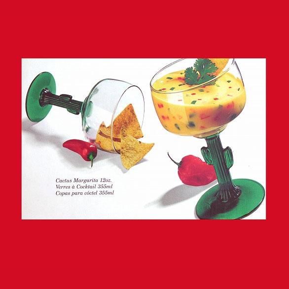 画像1: カクタス マルゲリータ パーティグラス(4個セット)/Cactus Margarita Glassware