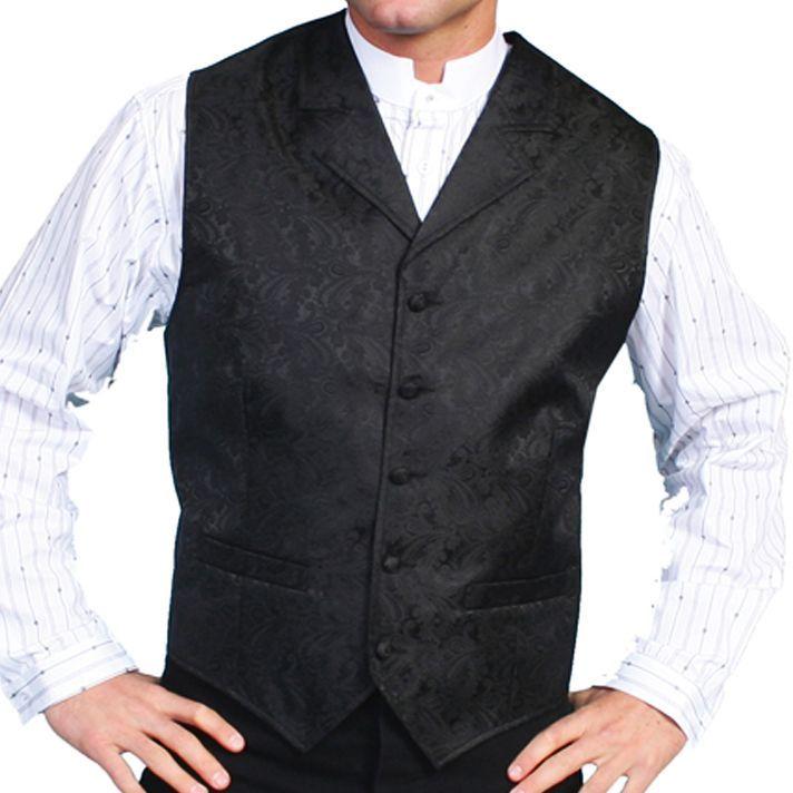 画像1: スカリー オールドウエスト ベスト(ブラック)/Scully Old West Vest (Paisley/Black)