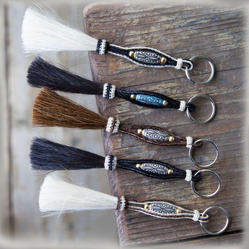 画像1: ホースヘアー(馬の毛) ウエスタン キーホルダー/Key Chains