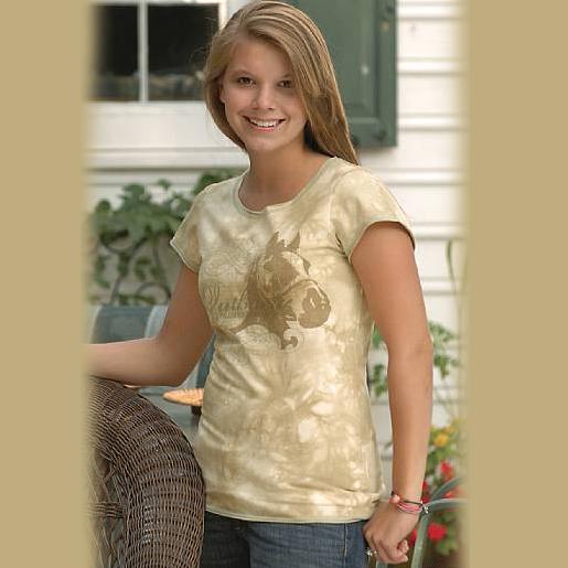 画像1: ホースデザイン 半袖Tシャツ(クリーム・レディース)/Horse Shortsleeve T-shirt(Cream・Women's) (1)