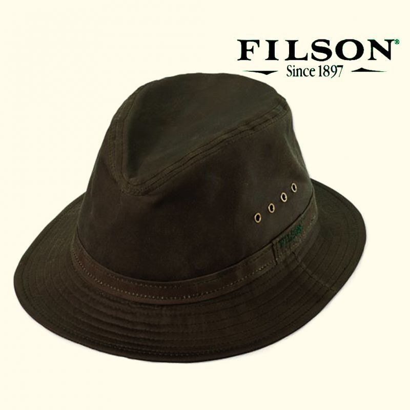 画像1: フィルソン クラッシャブルカバークロス パッカーハット/Filson Cover Cloth Crushable Packer Hat (1)