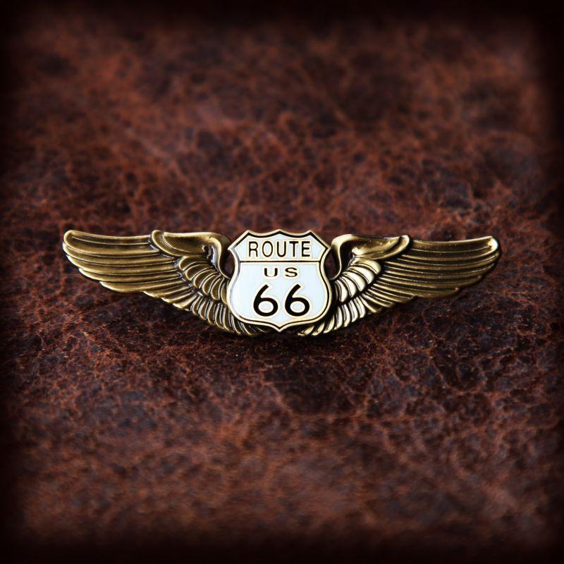 画像1: ルート66 ゴールド  ピンバッジ/Route 66 Pin