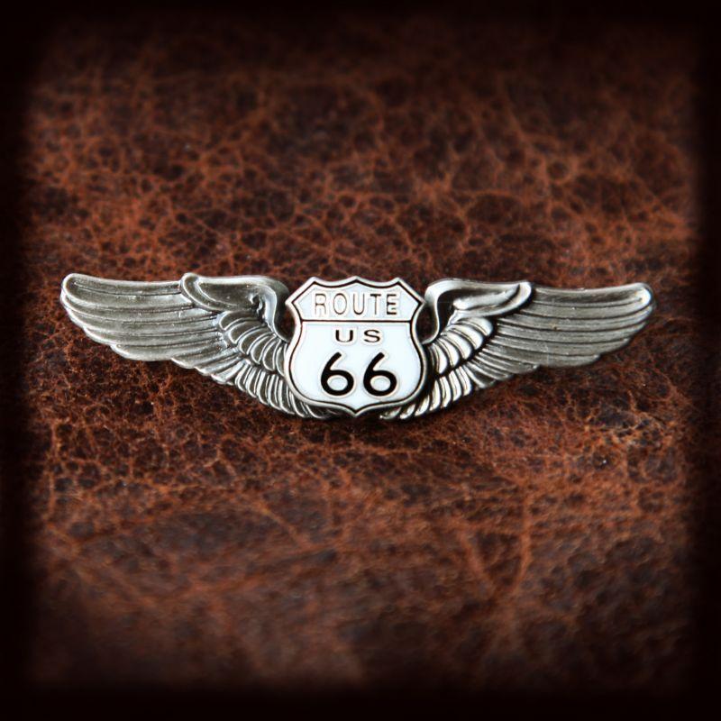 画像1: ルート66 シルバー ピンバッジ/Route 66 Pin