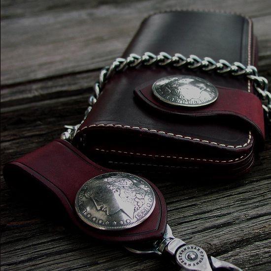 画像1: ファニー ライダースウォレット(レッド)/Funny Rider's Wallet 1$Morgan(Red)