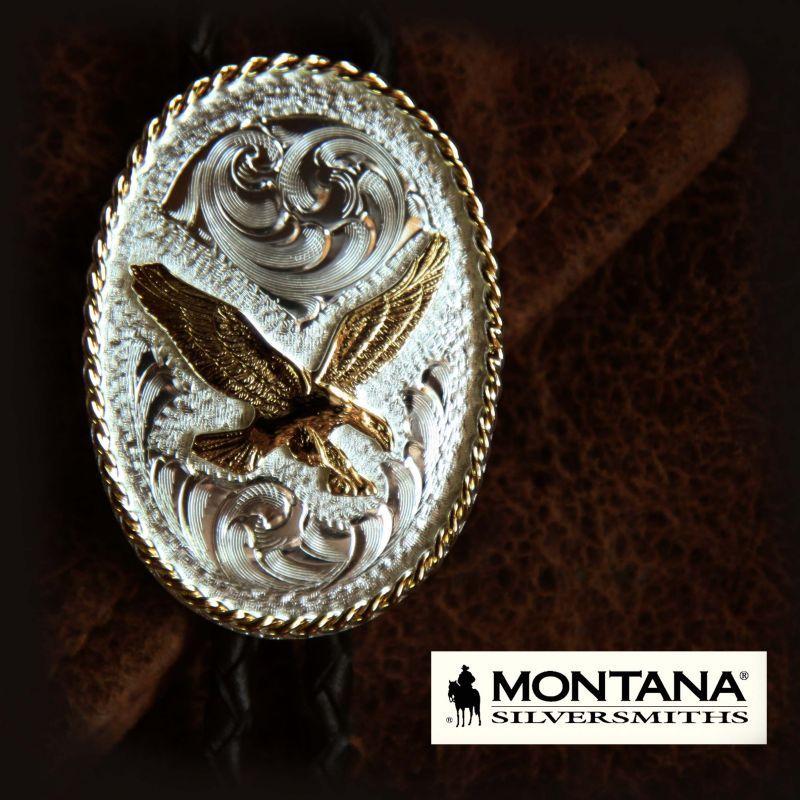 画像1: モンタナシルバースミス ボロタイ イーグル/Montana Silversmiths Bolo Tie
