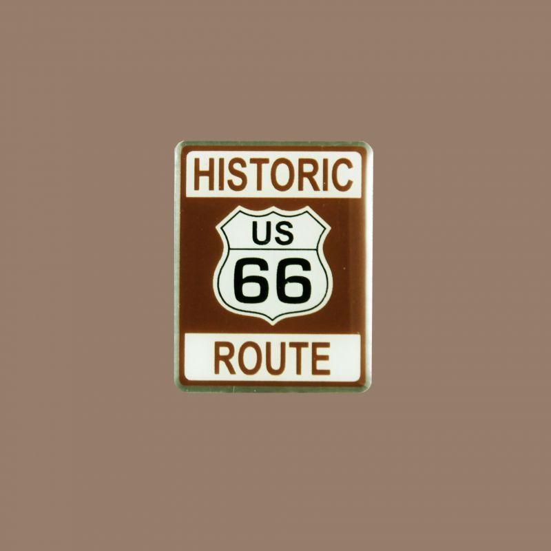 画像1: ルート66 ピンバッジ ヒストリック・ブラウン/Pin Route66 (1)
