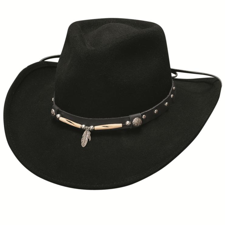 画像1: ブルハイド カウボーイ ハット ローリンサンダー(フェザー ブラック)/Bullhide Cowboy Hat Rollin'Thunder(Black) (1)