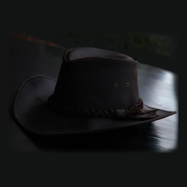 画像1: レザーバンド レザーハット(ブラウン)/Leather Hat-Leather Band (Brown) (1)