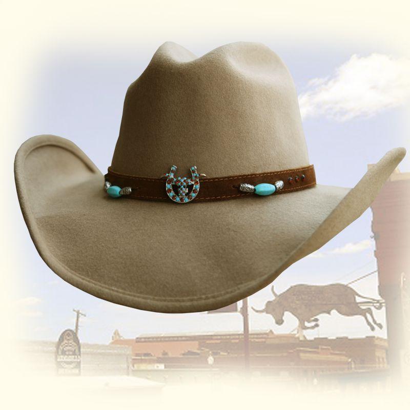 画像1: ブルハイド ウール ハット ホースシュー&ロングホーン(キャメル)/Bullhide Wool Hat(Camel)
