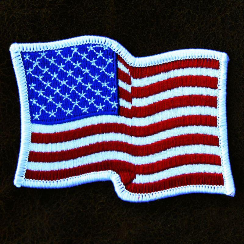 画像1: ワッペン 星条旗 ホワイト 9.2cm×7.0cm/Patch (1)
